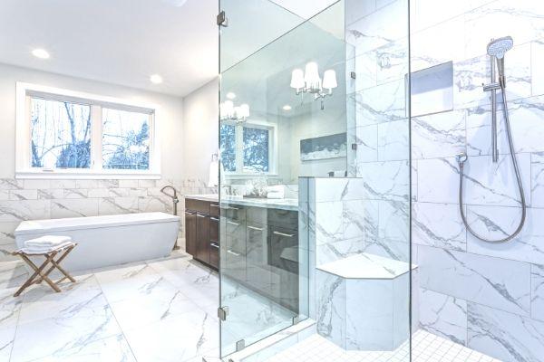 Shower Glass door in bathroom