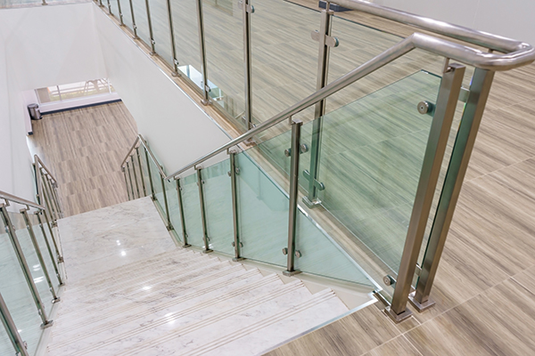 mid century modern glass railing for your home