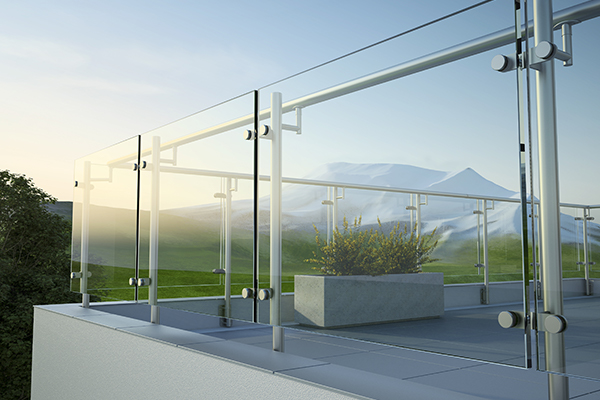 standoffs glass railing is one of the popular glass railing for your Vancouver home balcony