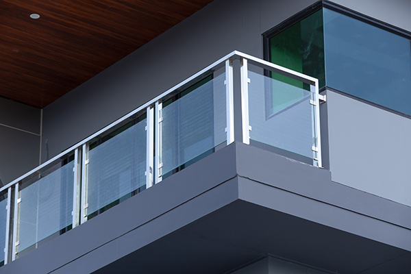 Aluminum Glass Railings is available for residential buildings includes condo