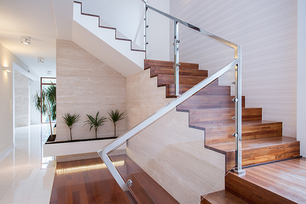 you can install stair glass railings for your Vancouver house stairs