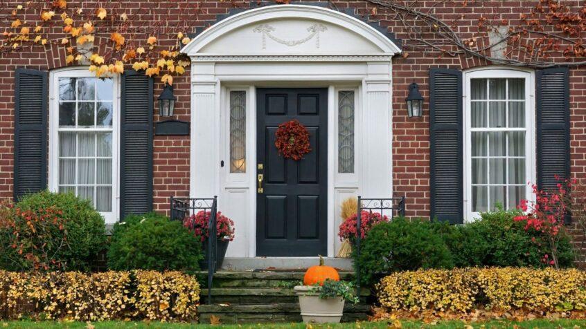 image of fibreglass door on house-front